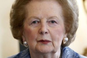 MARGARET THATCHER. (Photo via Baroque in Hackney)