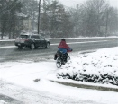 biking in snow