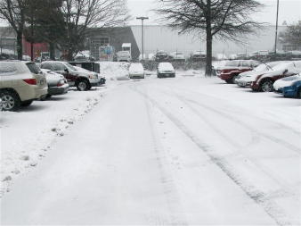 PARKING LOT, LATE AFTERNOON, WINTER STORM JANUS