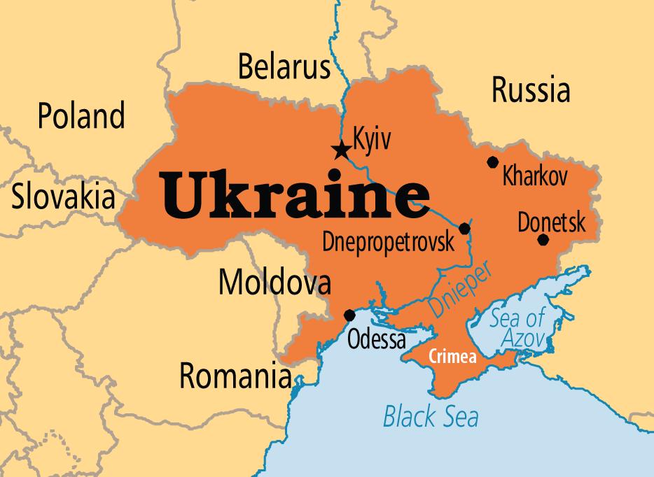 Ukraine Map - Ukraine Travel Guide