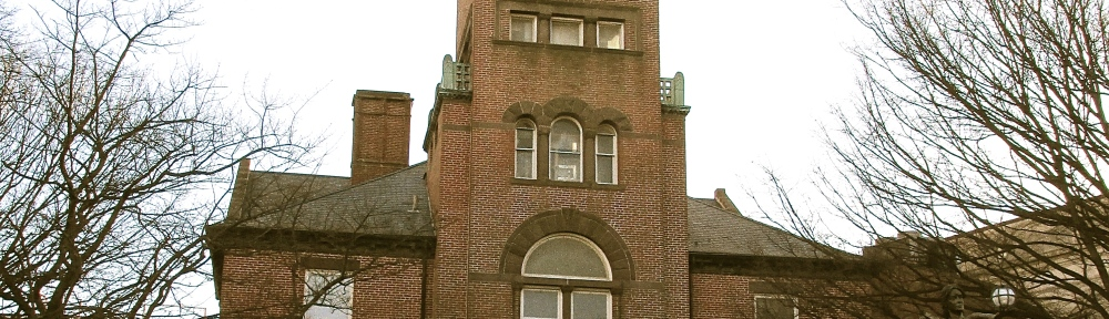 Historic red-brick courthouse, Montgomery County MD