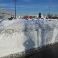 CORVETTES COMPLETELY BURIED UNDER SNOW DRIFTS.