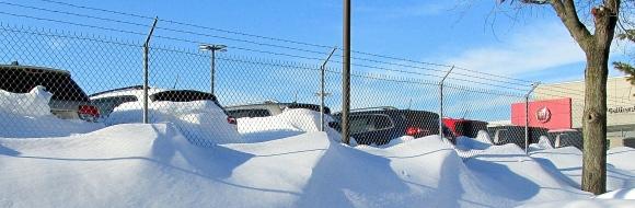 MULTIPLE SNOW DRIFTS ON MONDAY.